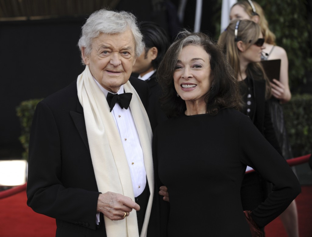 FILE - Hal Holbrook and Dixie Carter arrive at the 14th Annual Screen Actors Guild Awards in Los Angeles on Jan. 27, 2008. Holbrook died on Jan. 23 in...