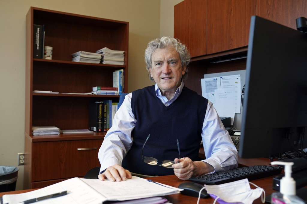 Dr. Robert Doolittle, Medical Director at North Carolina Agricultural and Technical State University poses for a photo in his office at the student he...