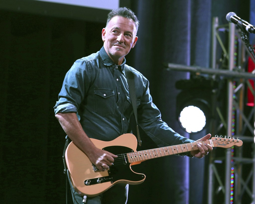 FILE - In this Nov. 1, 2016 file photo, Bruce Springsteen performs at Stand Up For Heroes in New York. Springsteen is facing a drunken driving charge ...