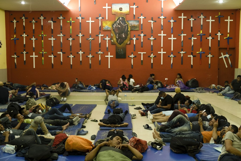"Central American migrants rest at ""The 72"" shelter in Tenosique, Tabasco state, Mexico, Tuesday, Feb. 9, 2021. Only six weeks into the year, the shelt..."