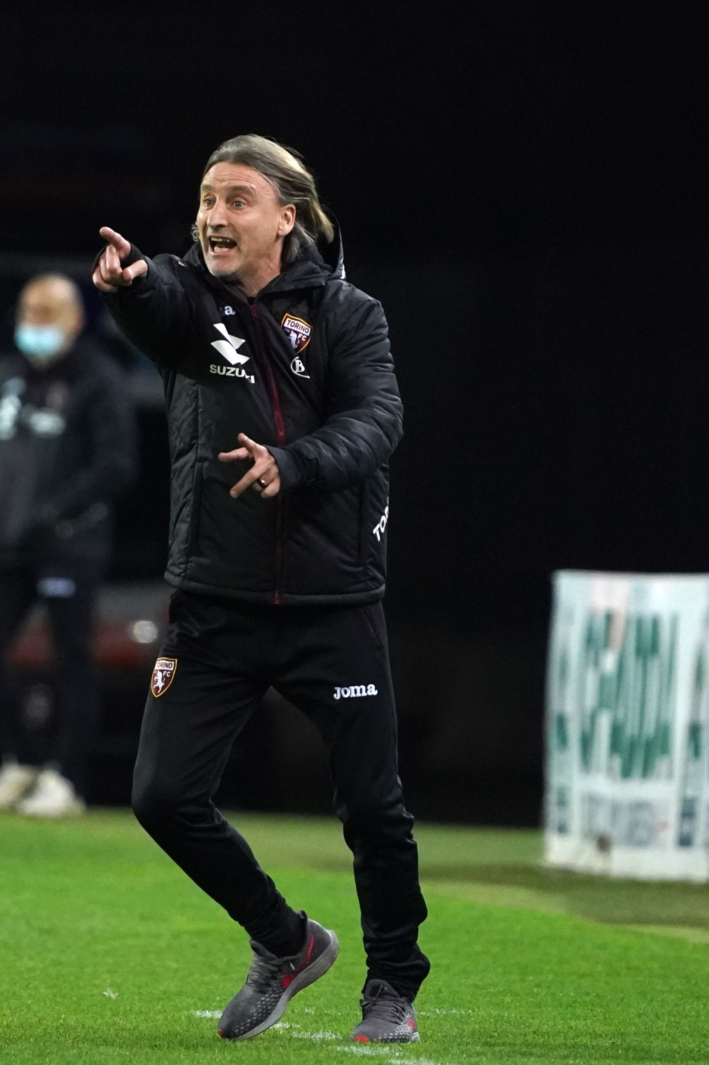 Torino manager Davide Nicola reacts on the sideline during a Serie A soccer match between Cagliari and Torino, in Cagliari's Sardegna Arena stadium, I...