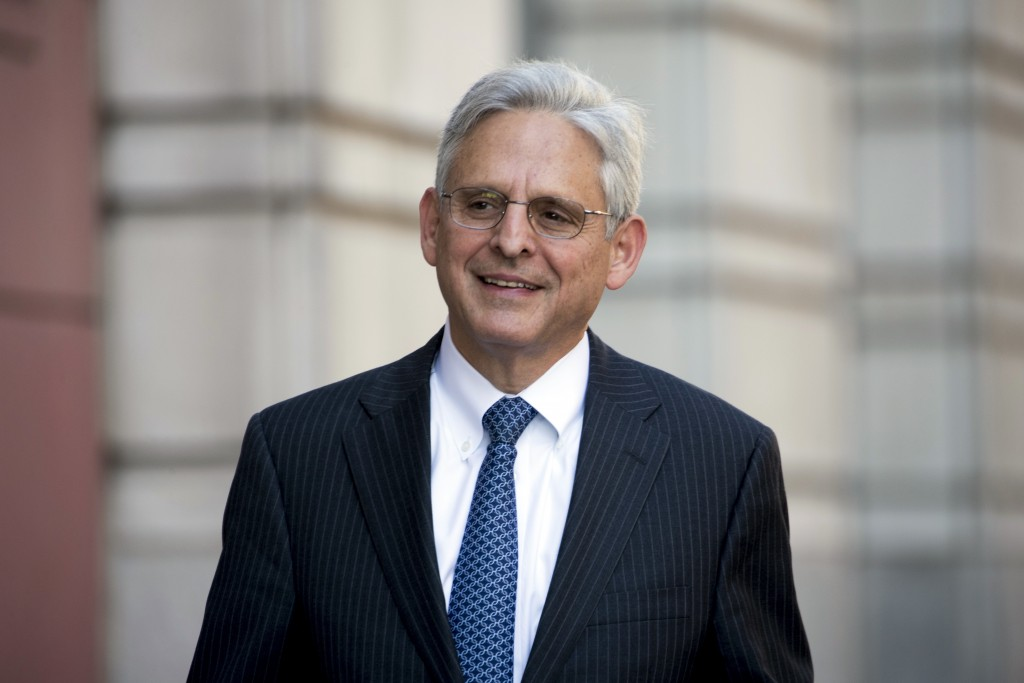 FILE - In this Nov. 17, 2017, file photo, former President Barack Obama's Supreme Court nominee Merrick Garland walks into Federal District Court in W...