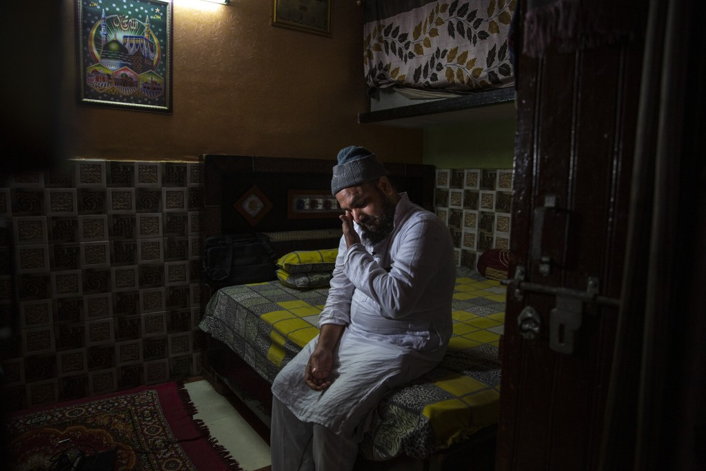 Haroon, who saw his 32 year-old brother being shot and killed by his Hindu neighbors during the February 2020 communal riots, breaks down while speaki...