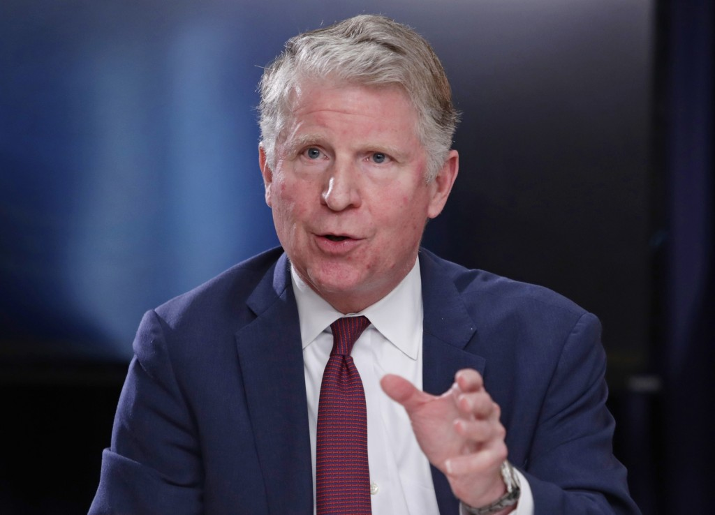 FILE - In this May 10, 2018, file photo, Manhattan District Attorney Cyrus R. Vance, Jr., responds to a question during a news conference in New York....