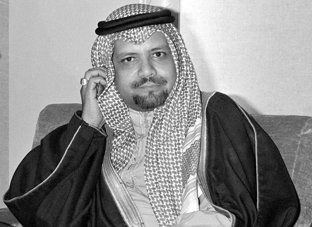 FILE - In this Dec. 14, 1976, file photo, Saudi Oil Minister Ahmed Zaki Yamani listens to newsmen's questions during a news conference at Doha, Qatar,...