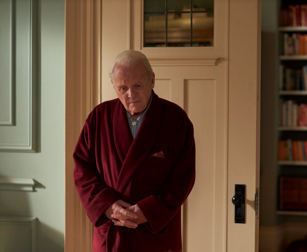 """This image released by Sony Pictures Classics shows Anthony Hopkins in a scene from """"The Father."""" (Adam Hinton/Sony Pictures Classics via AP)"""