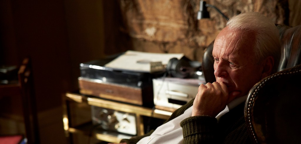 """This image released by Sony Pictures Classics shows Anthony Hopkins in a scene from """"The Father.""""  (Sean Gleason/Sony Pictures Classics via AP)"""