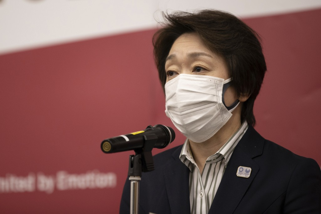 Tokyo 2020 Organizing Committee President Seiko Hashimoto speaks to media after a video conference with the IOC executive board on Wednesday, Feb. 24,...