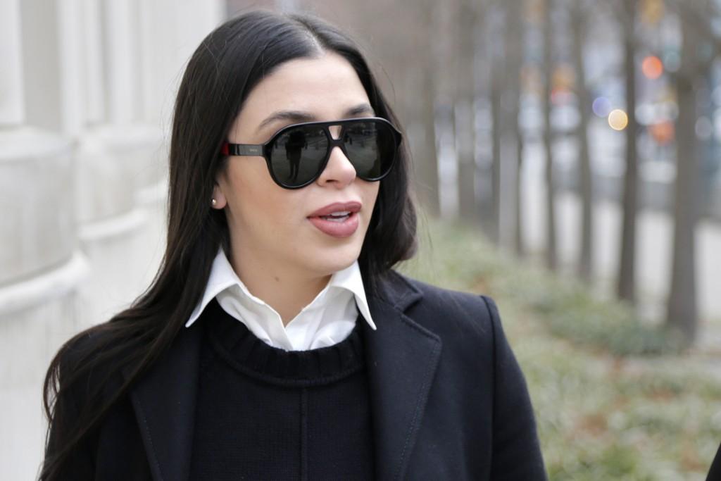 "FILE - In this Dec. 6, 2018 file photo, Emma Coronel Aispuro, wife of Joaquin ""El Chapo"" Guzman, arrives to federal court in New York. Despite her sta..."