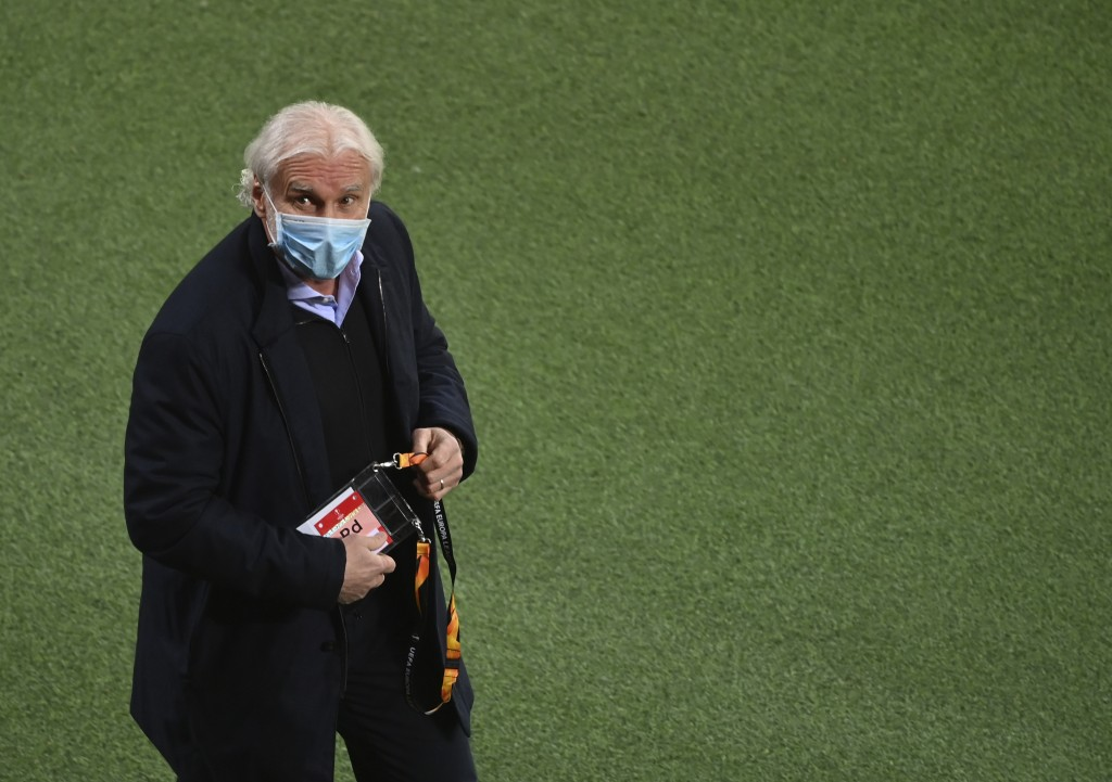 Leverkusen's managing director of sport Rudi Voller before the Europa League round of 32, 2nd leg soccer match between Bayer 04 Leverkusen and Young B...
