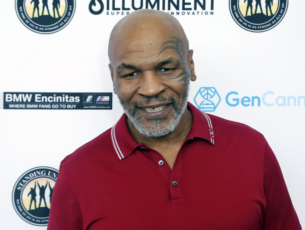 FILE - In this Aug. 2, 2019, file photo, Mike Tyson attends a celebrity golf tournament in Dana Point, Calif. Hulu on Thursday, Feb. 25, 2021, announc...