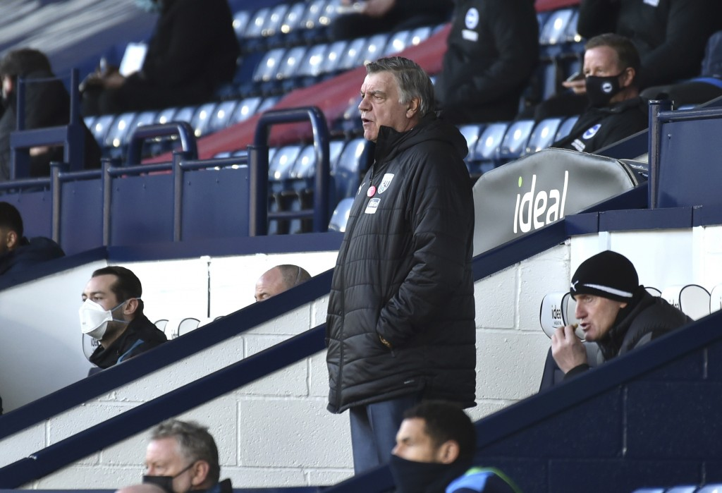 West Bromwich Albion's manager Sam Allardyce during the English Premier League soccer match between West Bromwich Albion and Brighton and Hove Albion ...