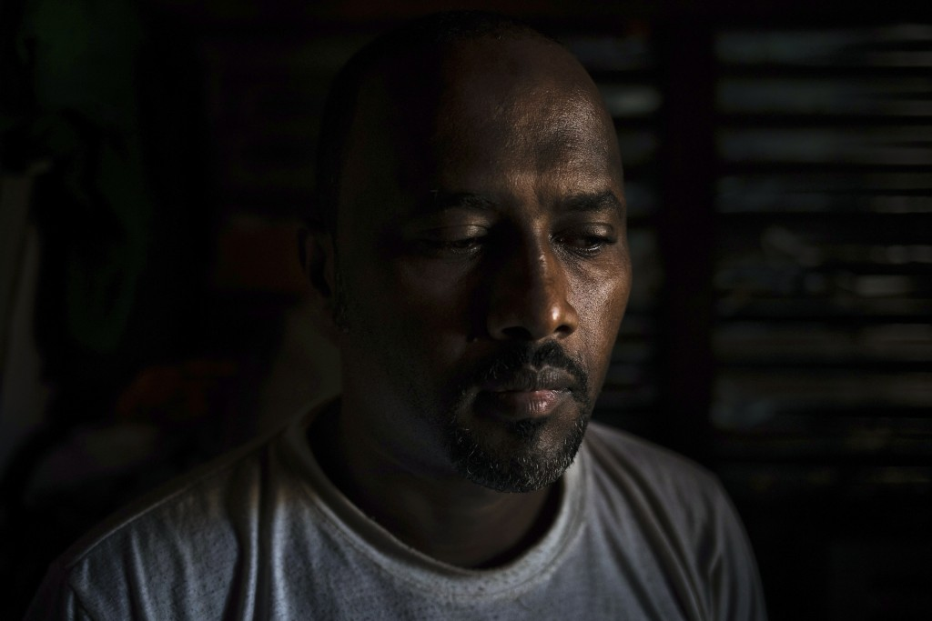39-years-old merchant Oumar Youssouf, is photographed at the Apostolic Seminary where he seeked shelter in Bangassou, Central African Republic, Tuesda...