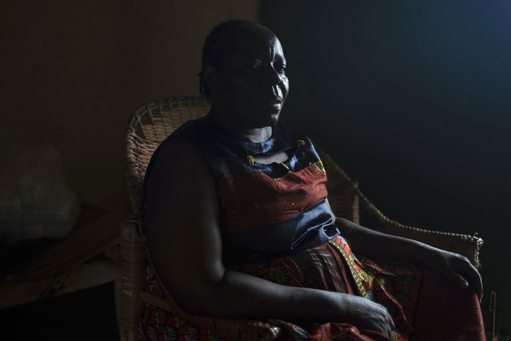 Pierrette Benguere, Prefect of the Mbomou area, is photographed in her house in Bangassou, Central African Republic, Monday Feb. 15, 2021. Benguere, w...