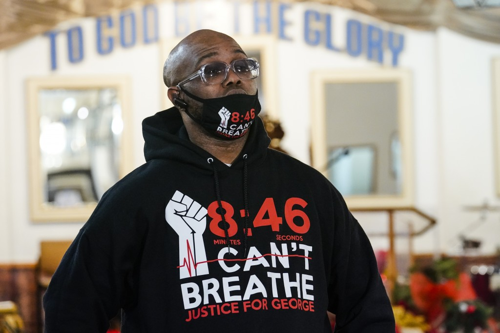 Terrence Floyd, brother of George Floyd, after a recording session for an album of protest songs Monday, Dec. 28, 2020, in New York. A full album of s...