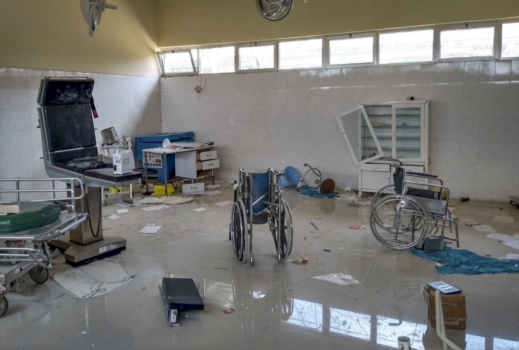 A medical clinic that was looted and vandalized in Zana, is seen in the Tigray region of northern Ethiopia Tuesday, Feb. 9, 2021. The United Nations i...