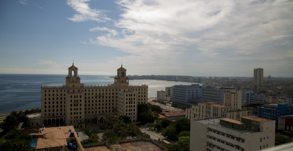 FILE - In this June 17, 2020, file photo, the Hotel Nacional stands devoid of tourists during the new coronavirus pandemic in Havana, Cuba. The Caribb...