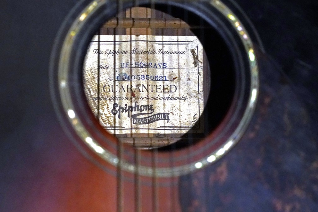 """Bluesman Jimmy """"Duck"""" Holmes says he can play the Bentonia style of blues on any type of guitar, but prefers using an acoustic model such as this one ..."""