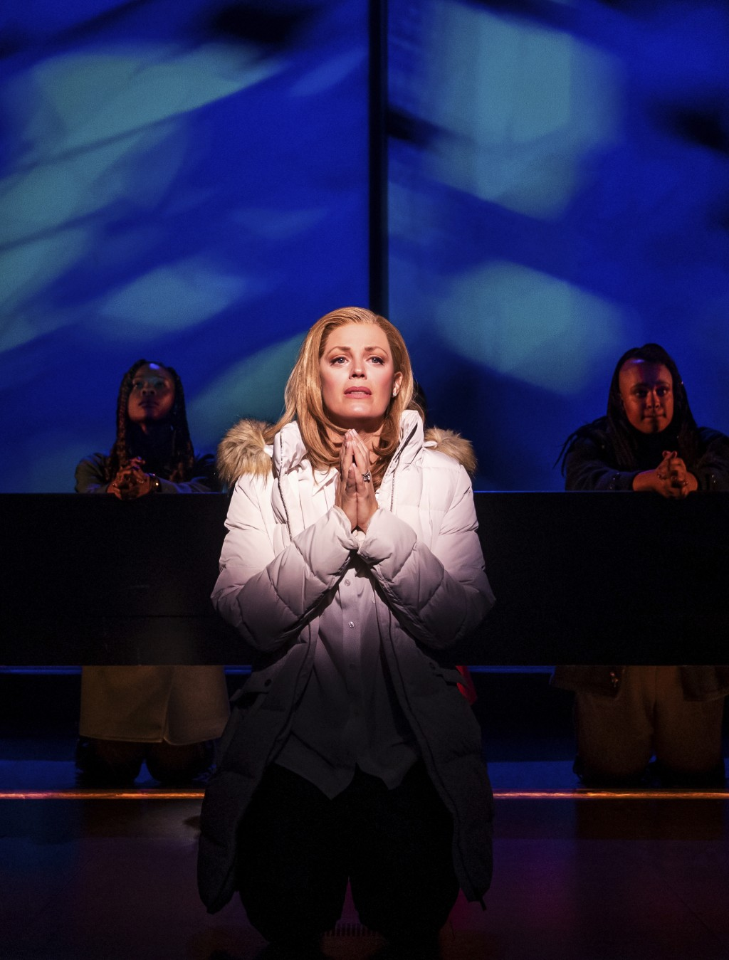"Elizabeth Stanley appears during a performance of ""Jagged Little Pill"" in New York. Stanley earned her first Tony Award nomination playing the mom of ..."