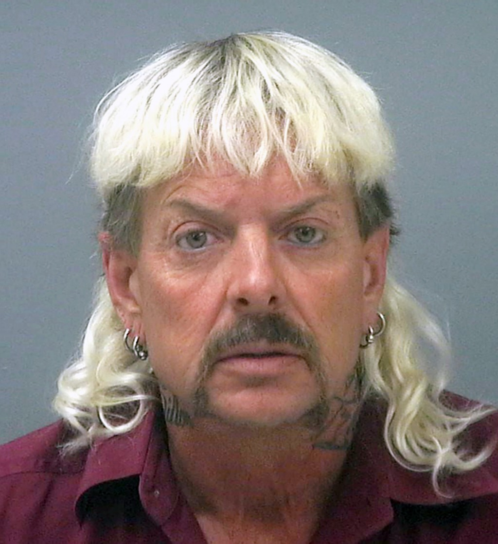 FILE - This undated file photo provided by the Santa Rose County Jail in Milton, Fla., shows Joseph Maldonado-Passage, also known as Joe Exotic. The f...