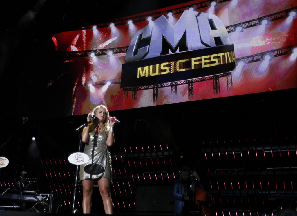 FILE - Miranda Lambert performs during CMA Fest in Nashville, Tenn. on  June 12, 2011. The country music festival will be cancelled for a second year ...