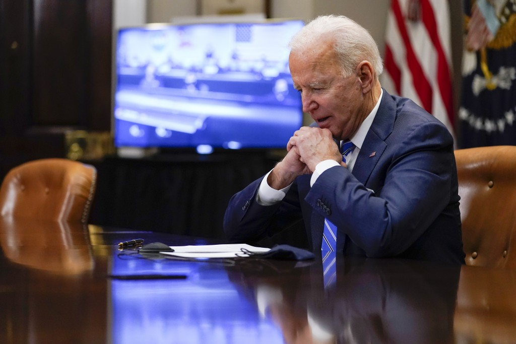 President Joe Biden speaks with NASA's Jet Propulsion Laboratory Mars 2020 Perseverance team, after congratulating them for successfully landing on Ma...