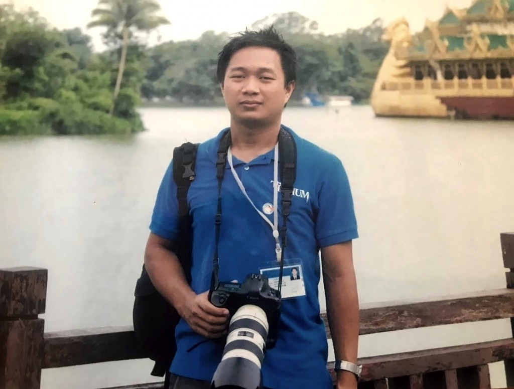 This undated family photo provided on Wednesday, March 3, 2021 shows Associated Press journalist Thein Zaw in Yangon, Myanmar. On Friday, March 5, 202...
