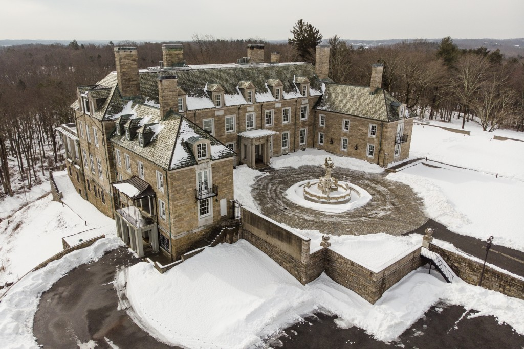 The Seven Springs, a property owned by former U.S. President Donald Trump, is covered in snow, Tuesday, Feb. 23, 2021, in Mount Kisco, N.Y. The estate...