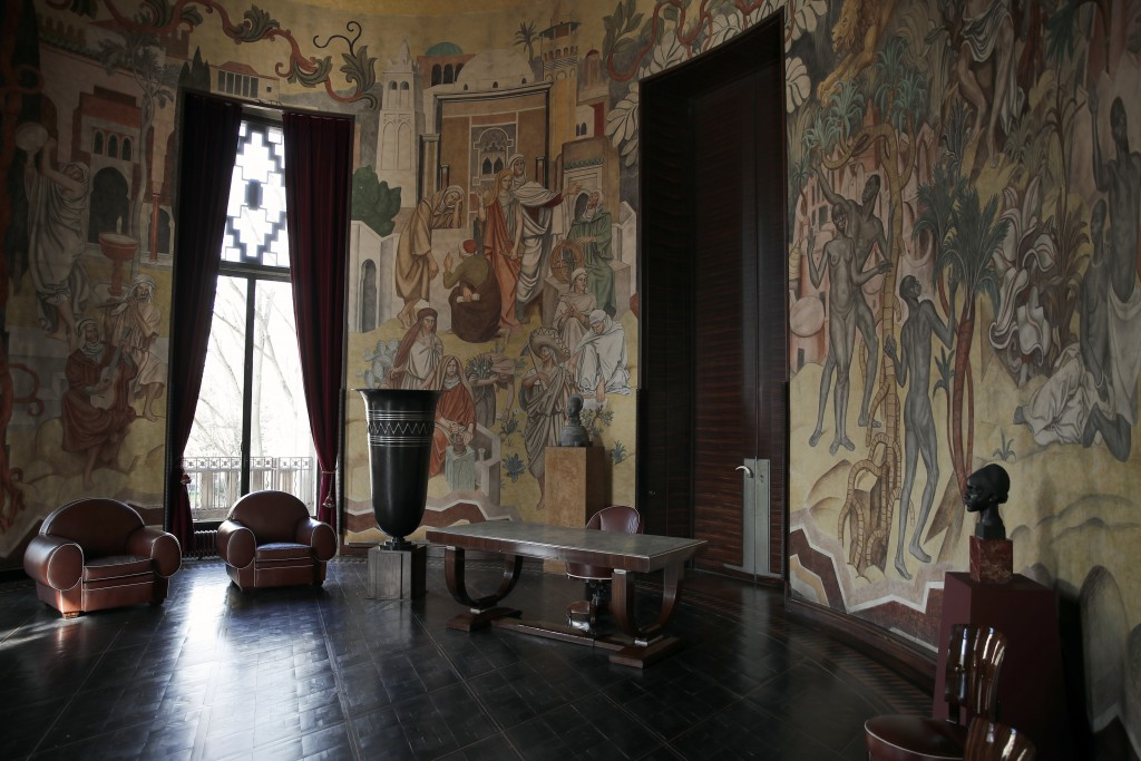 An interior view of France's National Museum of the History of Immigration, in Paris, Thursday, March 11, 2021. Pap Ndiaye, a Black French scholar and...