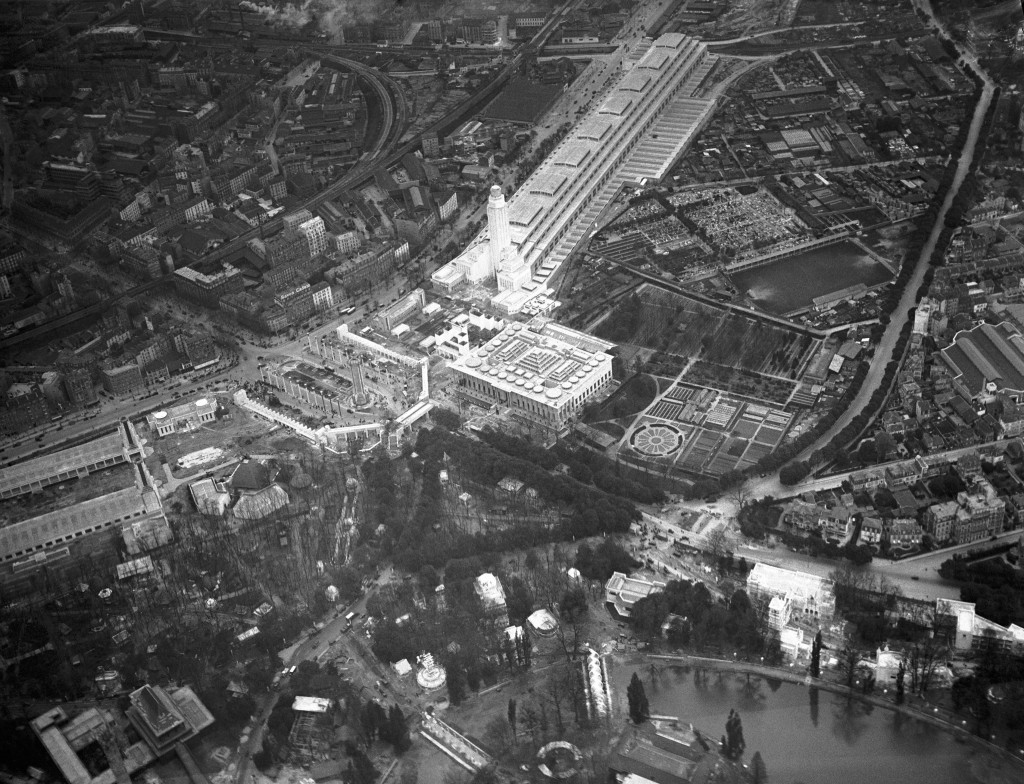 FILE - In this May 6, 1931 file photo, the Paris Colonial Exhibition, from the air, encompassing 110 hectares of the Bois de Vincennes. The exhibition...