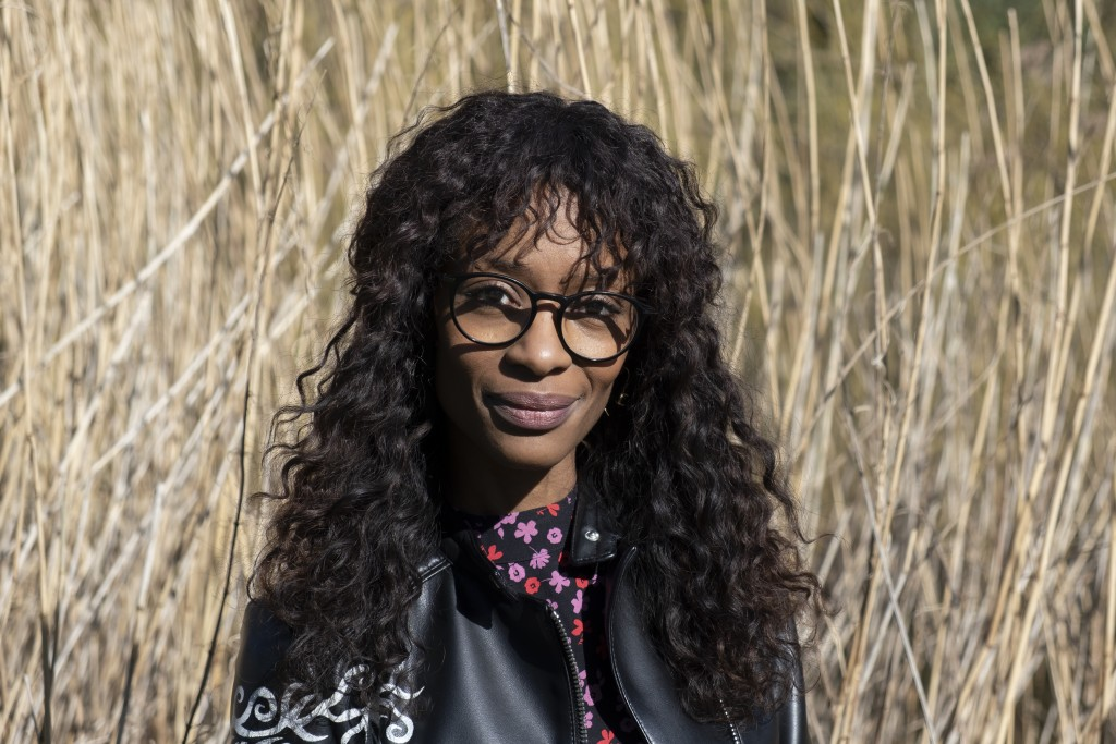 Sylvana Simons, who is campaigning for the Dutch general election on a platform of what she calls radical equality, poses for a portrait in Amsterdam,...