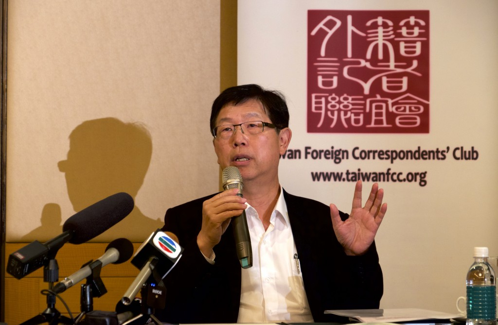 Foxconn Chairman Young Liu speaks at a press conference in Taipei, Taiwan on Tuesday, March 16, 2021.