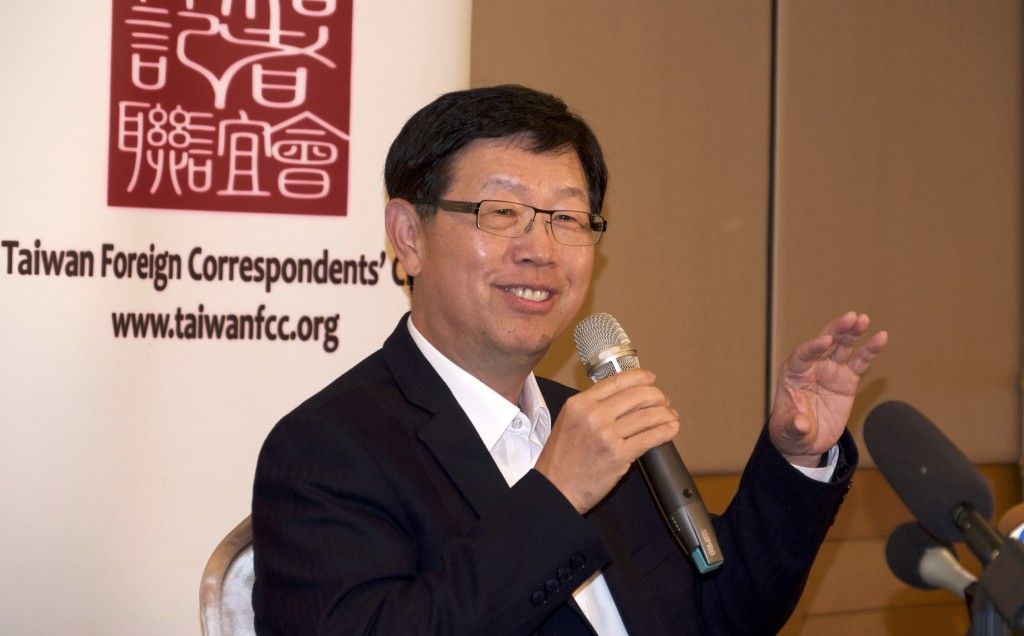 Foxconn Chairman Young Liu speaks in a press conference in Taipei, Taiwan on Tuesday, March 16, 2021. Foxconn Technology Group, the world's largest el...