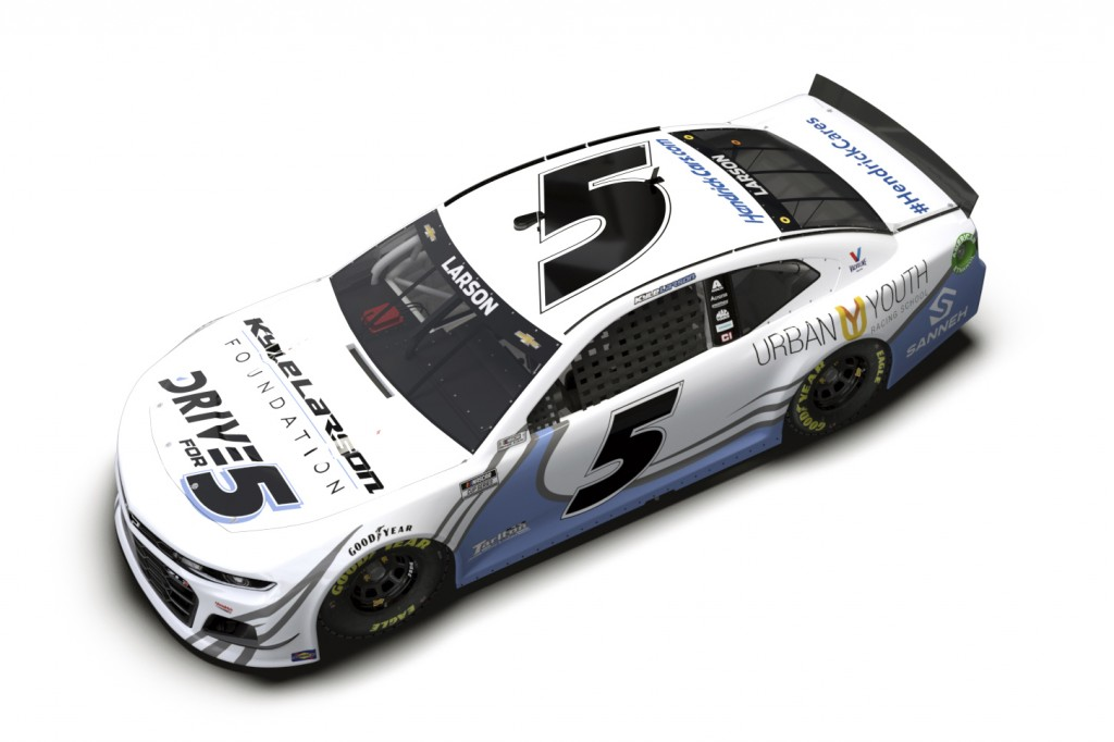 This artists rendering provided by Hendricks Motorsports shows the paint scheme design for the car Kyle Larson will use in his return to iRacing on We...
