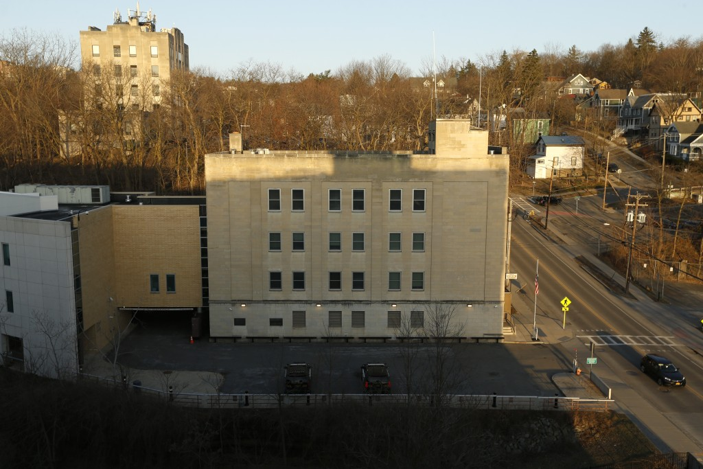 This Monday, March 22, 2021 photo shows the Ithaca Police Department headquarters in Ithaca, N.Y. The nationwide reexamination of policing after the k...