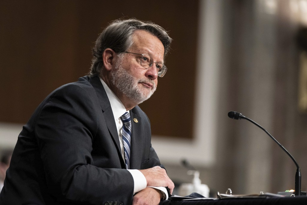 Sen. Gary Peters., D-Mich., speaks during a hearing to examine United States Special Operations Command and United States Cyber Command in review of t...