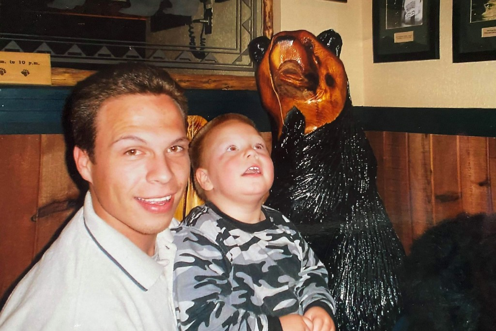 This 2007 photo provided by Hilary J. Sweeney shows Jesten Mata, left, and his son Ryan at a restaurant in Phoenix. Mata was one of four people whose ...