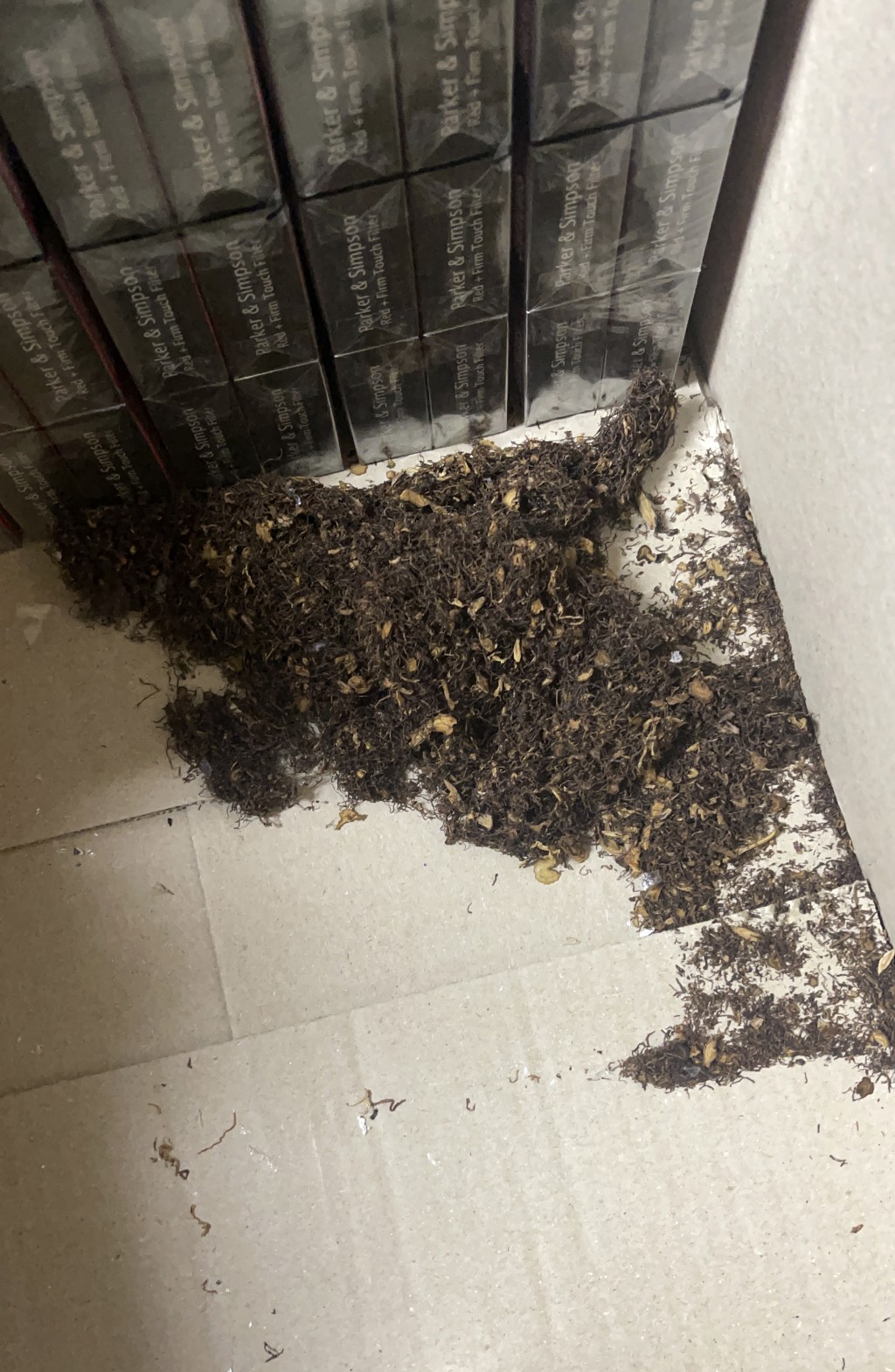 The remnants of tobacco lie on the floor at the Spar supermarket in the town of Gulargambone, Australia, on March 23, 2021. Droughts. Wildfires. Flood...