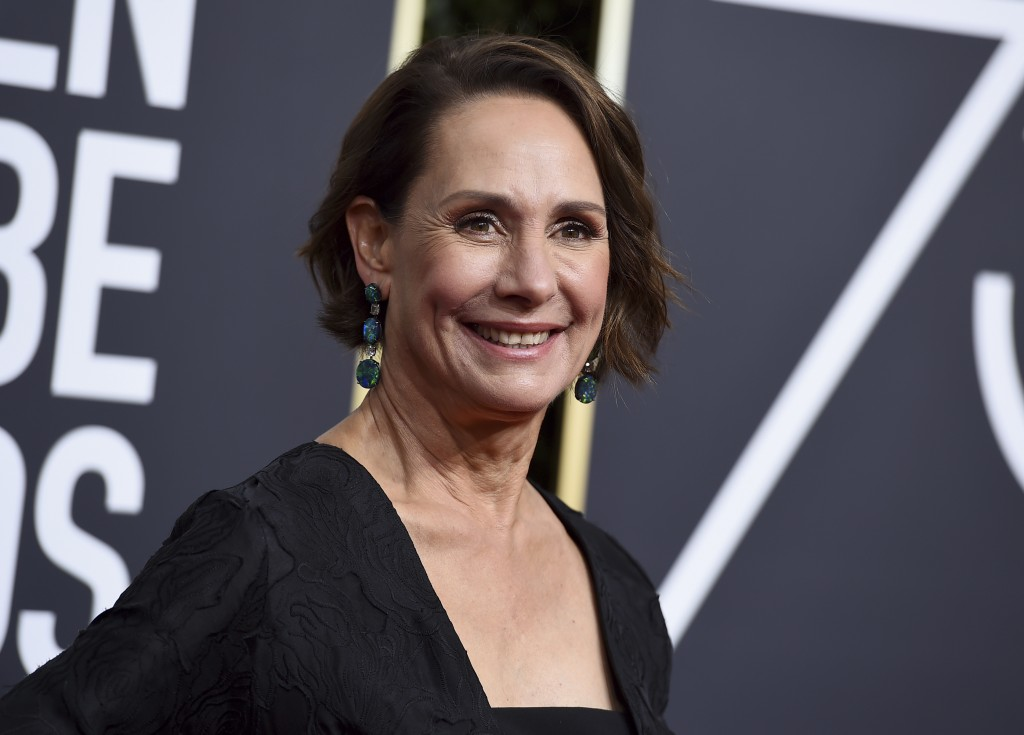 FILE - Actress Laurie Metcalf arrives at the 75th annual Golden Globe Awards in Beverly Hills, Calif. on Jan. 7, 2018. The Tony and Emmy Award-winning...