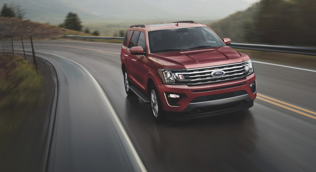 This photo provided by Ford shows the 2021 Expedition, which includes impressive towing capabilities and an extensive suite of advanced safety feature...