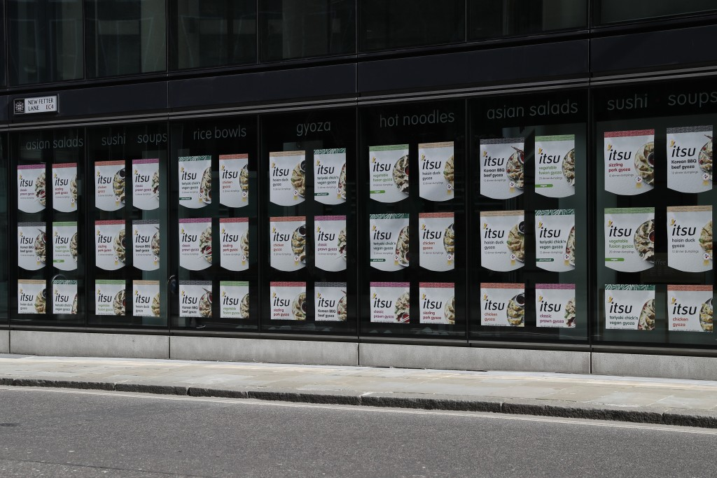 A closed branch of the sushi restaurant chain Itsu at Holborn in the City of London, Thursday, April 1, 2021. When the coronavirus struck, nearly 540,...