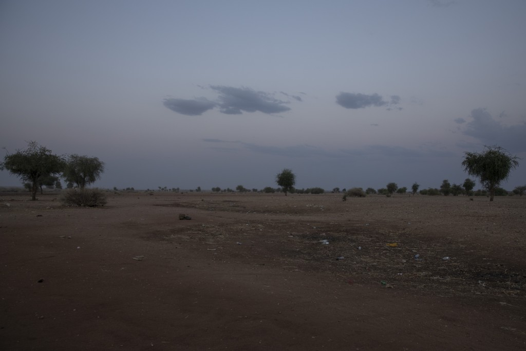 This March 23, 2021 photo shows the area at the Sudan-Ethiopia border. Battered and hungry, Tigrayans still arrive daily at the border post where Suda...