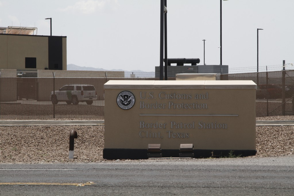 FILE - In this Wednesday, June 26, 2019, file photo is the entrance to the Border Patrol station in Clint, Texas. Texas and Louisiana sued the federal...