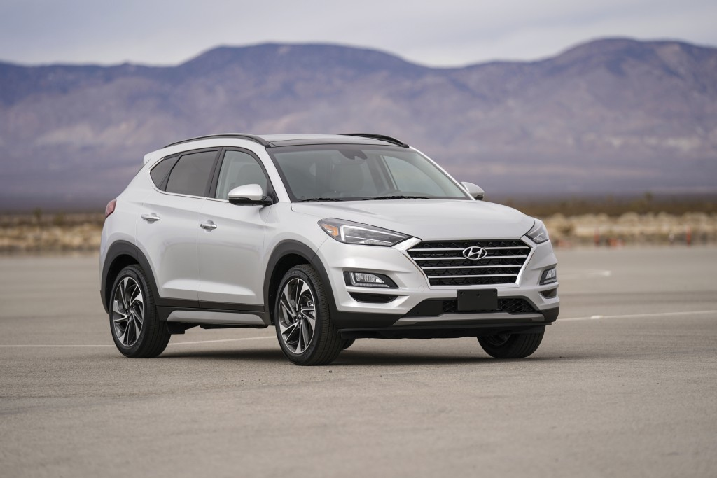 This photo provided by Hyundai shows the 2021 Tucson, a compact SUV that is easy to use and comes with a bevy of standard features. (David Dewhurst/Co...