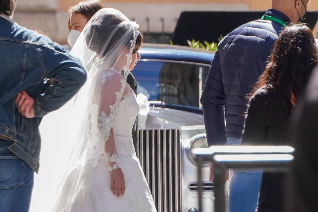 Lady Gaga plays Maurizio Gucci's former wife Patrizia Reggiani during the shooting of a movie by Ridley Scott, based on the story of the murder of Mau...