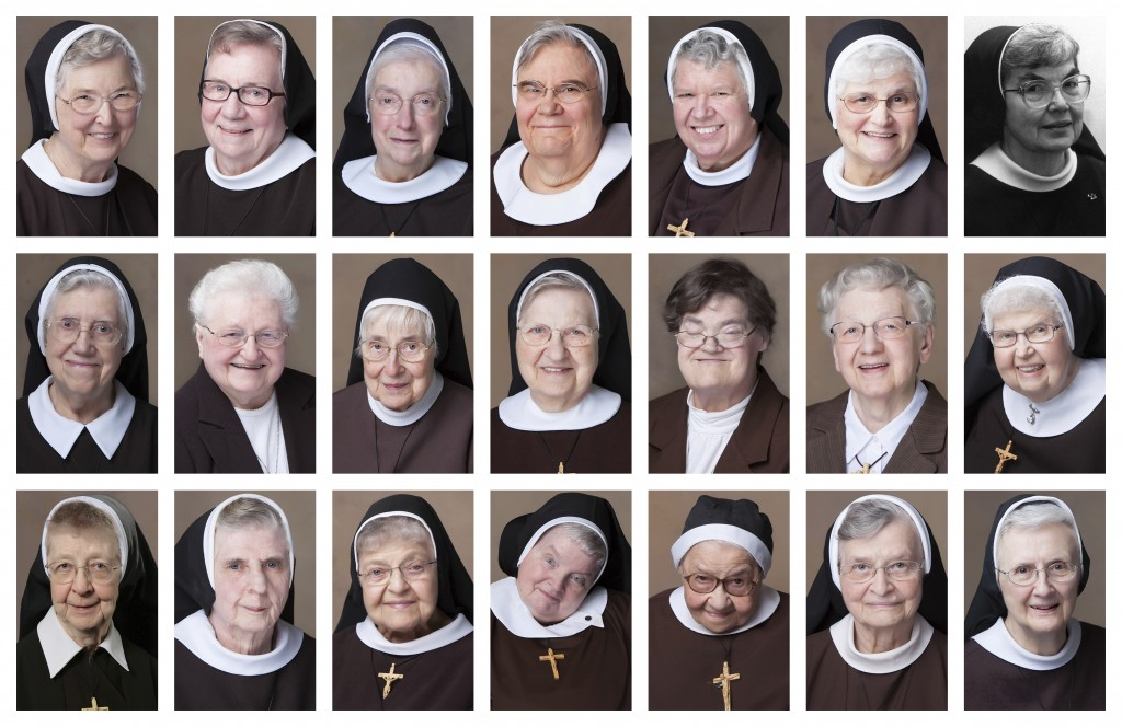 This combination of photos provided by Felician Publications from July 2020 to April 2021 shows 21 nuns from the Felician order who have died from COV...