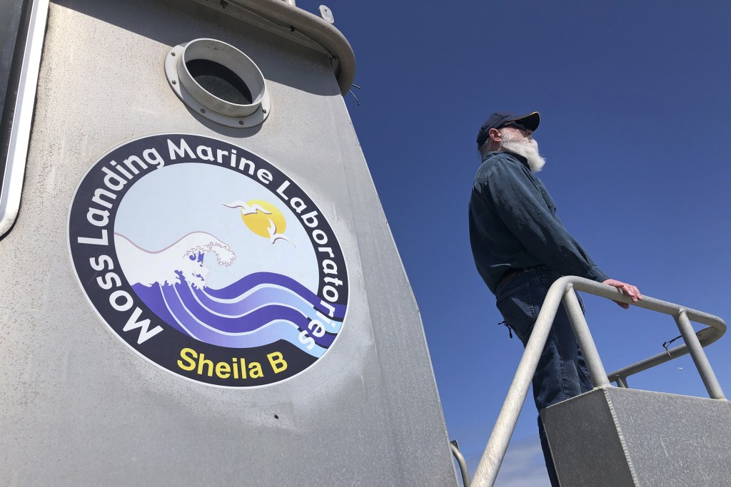 Scott Benson, an ecologist and leatherback turtle expert with the National Oceanic and Atmospheric Administration Fisheries Service, based in Moss Lan...