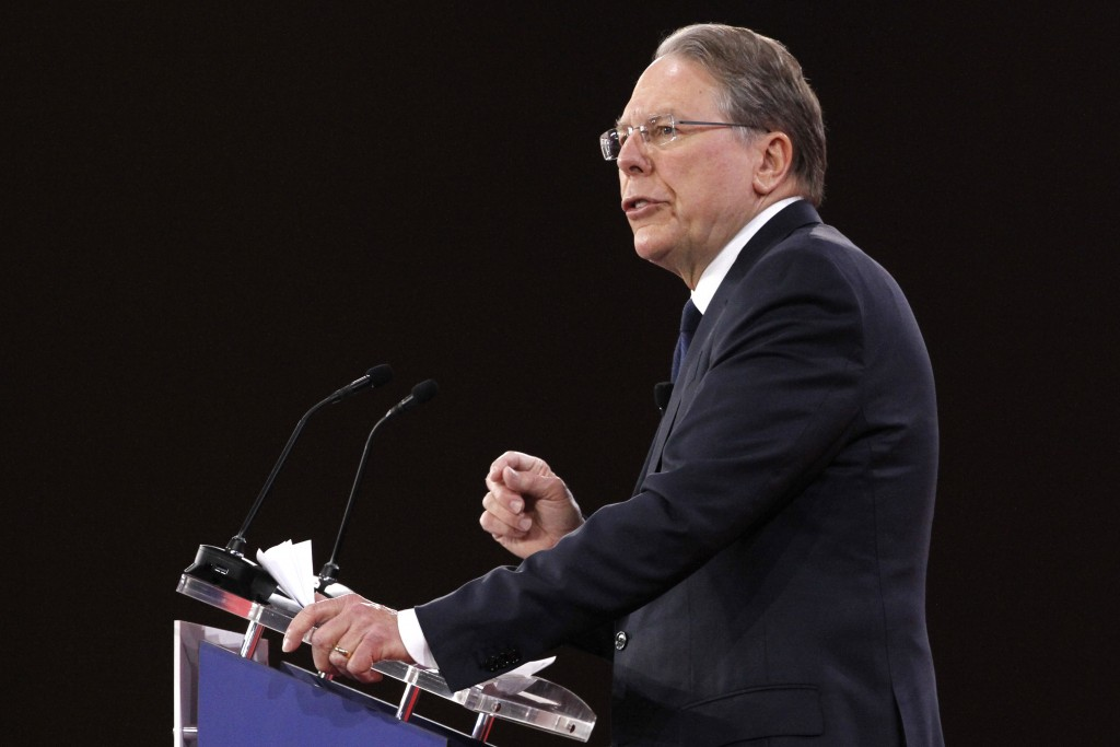 FILE - In this Feb. 22, 2018, file photo, National Rifle Association Executive Vice President and CEO Wayne LaPierre, speaks at the Conservative Polit...