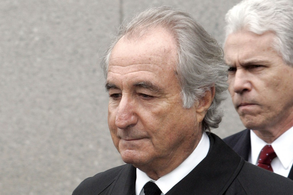 FILE - In this March 10, 2009, file photo, former financier Bernie Madoff leaves federal court in Manhattan, in New York. Madoff, the financier who pl...