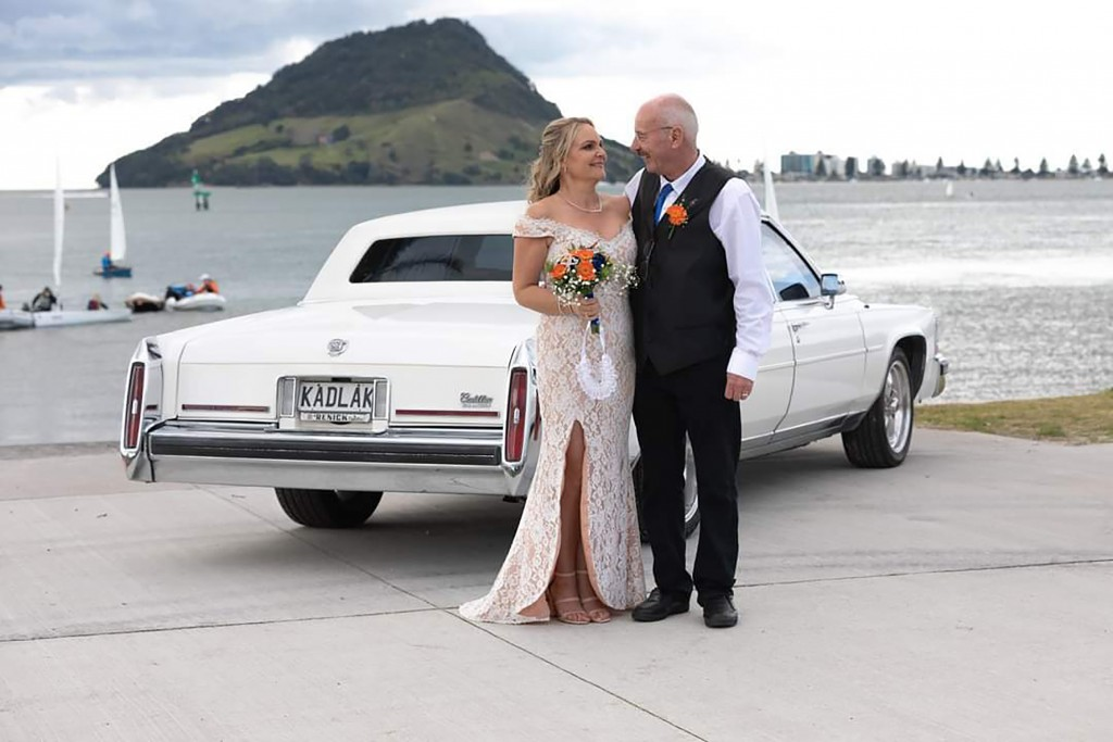 In this photo released by Debra McLean, McLean is pictured with her late husband Phil on their wedding day on Aug. 8, 2020 in Tauranga, New Zealand. P...